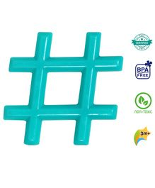 1st Step BPA Free Water Filled  Hashtag Shaped Teether - Green