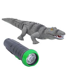 Toys Bhoomi Infrared Remote Control Crocodile Toy - Grey