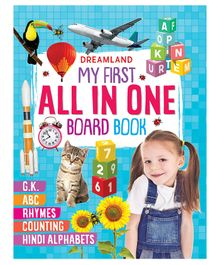 My First All In One Board Book - English Hindi