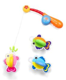 Emob Bath Toy Set With Reel Fishing Rod Pack of 6 - Multi Colour