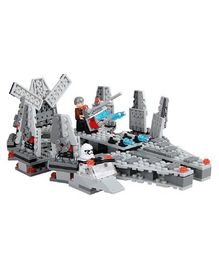 Emob Space Theme 3D Building Blocks Set Toy With Two Mini Figures - 260 Pieces