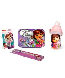 Disney Dora School Kit Pink & Purple - Pack Of 4