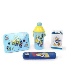 Disney Donald Duck School Kit Blue Yellow - Pack of 4
