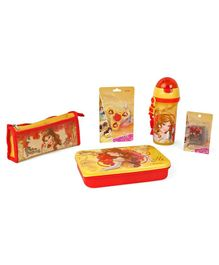 Disney Princess School Kit Red & Yellow - Pack Of 5