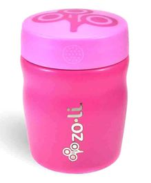 ZoLi Pow Dine Stainless Steel Insulated Food Jar Pink - 355 ml