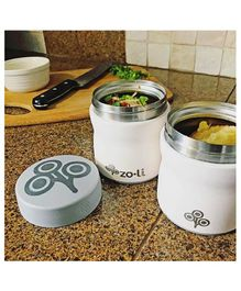 ZoLi Pow This & That Stainless Steel Insulated Food Jar - Off White