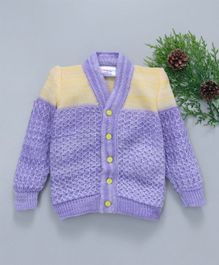 Little Angels Full Sleeves Sweater - Purple Yellow