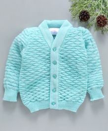 Little Angels Full Sleeves Sweater Triangle Design - Green