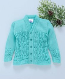 Little Angels Full Sleeves Sweater - Sea Green