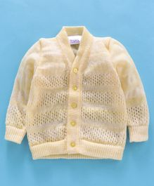 Little Angels Full Sleeves Sweater Dot Design - Yellow