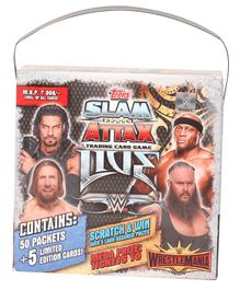 WWE Slam Attax Trading Card Game With Carry Box - Multicolour