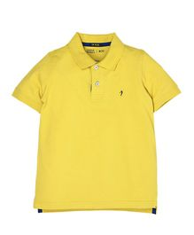 Indian Terrain Half Sleeves Tee - Yellow