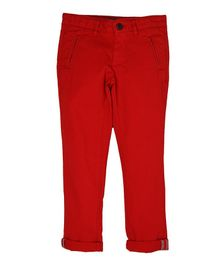Indian Terrain Full Length Trousers - Red