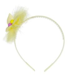 Pikaboo Butterffly Applique Hair Band - Yellow