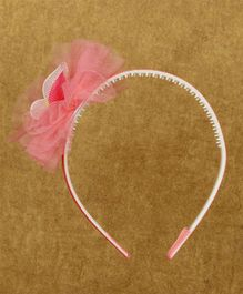 Pikaboo Hair Band Studded Butterfly Motif - Pink