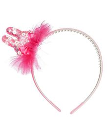 Pikaboo Bunny Applique Hairband - Pink