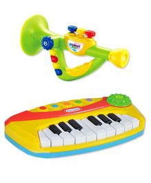 Kiddale Electronic Keyboard With Trumpet - Yellow