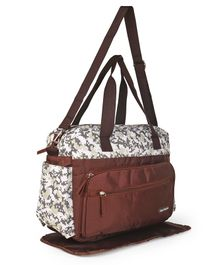 Diaper Bag With Changing Mat - Coffee Brown