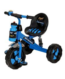 Dash Motocross Stylish Tricycle With Sipper Bottle - Blue & Black