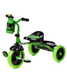 Dash Motocross Stylish Tricycle With Sipper Bottle - Green