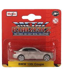 Maisto Die Cast Free Wheel BMW 135i Coupe Toy Car - Silver