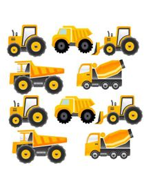 Party Propz Under Construction Themes Cardstock Cut Outs Set of 10 - Yellow
