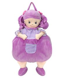 Soft Buddies Polyester Blanket Doll Design - Purple