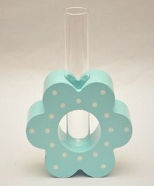Tipy Tipy Tap Flower Design Tube Vase - Aqua Blue