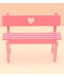Tipy Tipy Top Wooden Bench Heart Shape - Pink