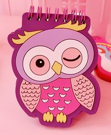 Tipy Tipy Tap Owl Shape Mini Memo Book - Purple