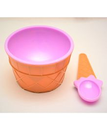Tipy Tipy Tap Ice Cream Bowl With Spoon - Purple