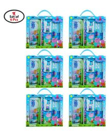 Party Propz Peppa Pig Stationery Set Blue - Pack of 6 sets