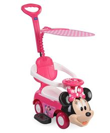 Disney Minnie Mouse Manual Push Ride-On - Pink