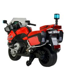 Wheel Power Battery Operated Ride On BMW Police Bike With Sound Effect - Red