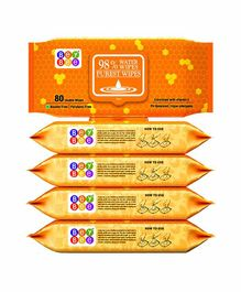 Bey Bee Water Wipes Pack of 5 - 80 Pieces Each