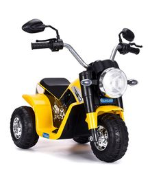 HappyKids Battery Operated Ride on Mini Bike - Yellow