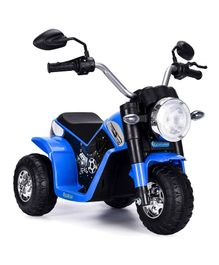 HappyKids Battery Operated Ride on Mini Bike - Blue