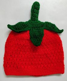 Knit Masters Strawberry Woolen Cap - Red