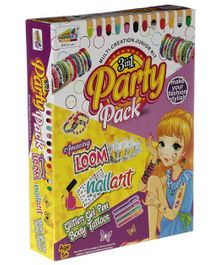 NHR Mansa ji's 3 in 1 Loom Set With Nail & Body Art Kit - Multicolour