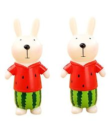 Syga Bunny Shaped Money Bank Set of 2  - Red