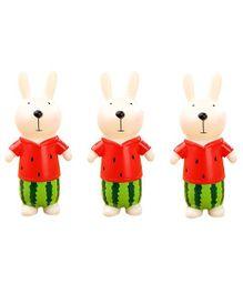 Syga Bunny Shaped Money Bank Set of 3 - Red