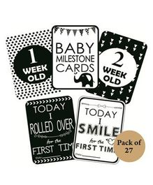 Syga Baby Milestone Cards Pack of 27 - Black White