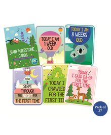 Syga Baby Milestone Cards Pack of 27 - Multicolour