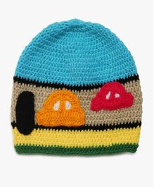 MayRa Knits Woollen Cap Vehicle Design - Multicolour