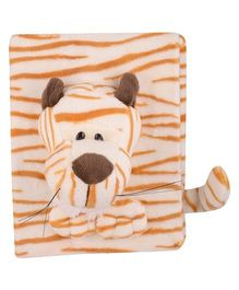 Twisha Nx Tiger Shaped Photo Album Cream & Orange - 6 Pages Including Cover