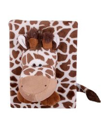 Twisha Nx Giraffe Shaped Photo Album Brown - 6 Pages Including Cover
