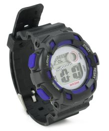 Digital Wrist Watch - Blue Black