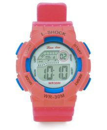 Digital Solid Colour Wrist Watch - Peach