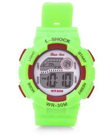 Digital Solid Colour Wrist Watch - Green