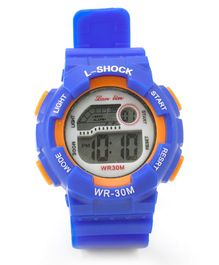 Digital Solid Colour Wrist Watch - Royal Blue